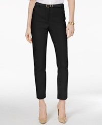 Charter Club Petite Belted Tummy Control Slim Leg Pants Only At Macy's