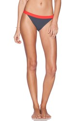 Marc By Marc Jacobs Color Block Bikini Bottom Charcoal