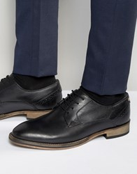 Frank Wright Merton Oxford Shoes In Black Leather Black
