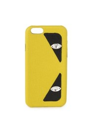 Fendi Monster Saffiano Leather Iphone 6 Case Yellow