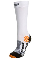 X Socks Run Energy Sports White Black