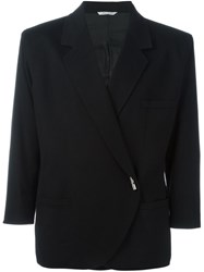 Versace Vintage Asymmetric Suit Jacket Black