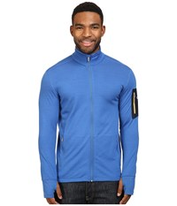 Icebreaker Compass Long Sleeve Zip Pelorus Admiral Bolt Men's Clothing Blue