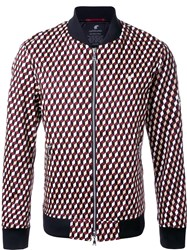 Loveless Geometric Pattern Bomber Jacket Multicolour
