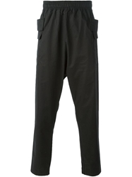 Silent Damir Doma Dropped Crotch Track Pants Black