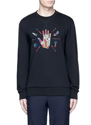 Lanvin Hand Embroidered Cotton Sweatshirt Black