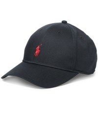 Polo Ralph Lauren Men's Big And Tall Baseline Hat Polo Black