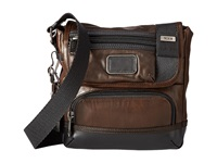 Tumi Alpha Bravo Barstow Leather Crossbody Dark Brown Cross Body Handbags