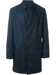 Lardini Rvr Reversible Midi Raincoat Blue