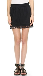 Pam And Gela Voile And Lace Skirt Black
