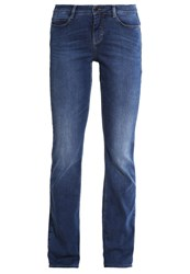 M A C Mac Dream Straight Leg Jeans Mid Blue Basic Wash Blue Denim