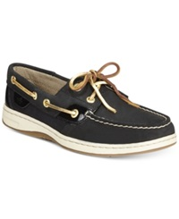 Sperry Women's Bluefish Linen Oat Boat Shoes Women's Shoes Black Gold