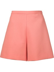 Delpozo High Waisted Shorts Pink And Purple