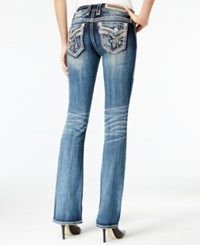 Rock Revival Embroidered Medium Blue Wash Bootcut Jeans