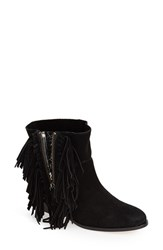 Women's Cynthia Vincent 'Nibble' Fringe Bootie Black