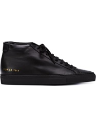 Common Projects Hi Top Sneakers Black