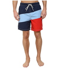 Nautica Color Block Trunk Dress Blues Men's Swimwear Navy