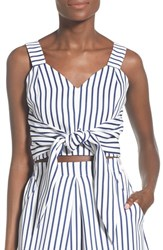 Women's J.O.A. Cotton Poplin Stripe Tank