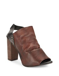 Free People Picture This Leather Mules Brown