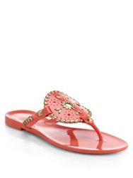 Jack Rogers Georgica Jelly Thong Sandals Coral