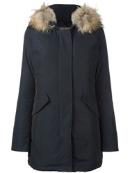 Woolrich Hooded Padded Parka Blue