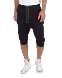 2Xist 3 4 Length Cargo Sweatpants Black Men's