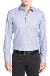 Men's Boss 'Robbie' Slim Fit Sport Shirt Turquoise