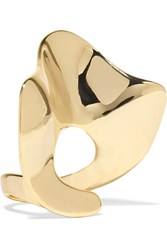 Arme De L'amour Ruffle Gold Plated Ring
