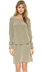 3.1 Phillip Lim Layered Dress With Ties Light Agave