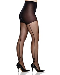 Pretty Polly Curves Plus Bow Back Seam Tights