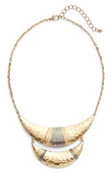 Panacea Women's Wire Wrapped Crescent Necklace