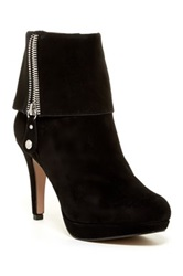 Adrienne Vittadini Poppers Zip Cuff Ankle Boot Black