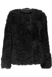 Yves Salomon Reversible Shearling Jacket Black