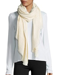 Cejon Quilted Patterned Scarf Ivory