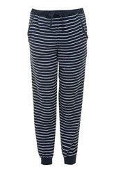Topshop Maternity Stripe Lounge Jogger Navy Blue