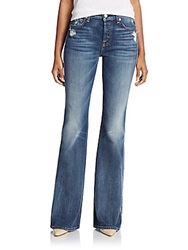 7 For All Mankind High Rise Flared Jeans Blue