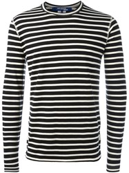 Comme Des Garcons Junya Watanabe Striped Long Sleeve T Shirt Black