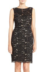 Women's Ellen Tracy Belted Lace Sheath Dress
