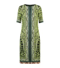 Etro Paisley Print Shift Dress Female Green