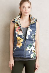 Pure Good Fleur Reversible Vest Blue Motif