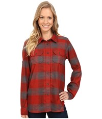 Kavu Wynonna Top Lumberjack Women's Long Sleeve Button Up Red