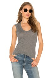 Velvet By Graham And Spencer Estina Scoop Neck Tank Grey