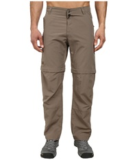 Jack Wolfskin Canyon Zip Off Pants Siltstone Men's Casual Pants Brown