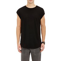 Barneys New York Cutoff Sleeve T Shirt Black