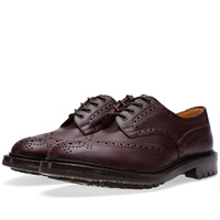 Trickers Tricker's Commando Sole Ilkley Derby Brogue Brown Zug Leather