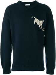 J.W.Anderson J.W. Anderson Embroidered Donkey Sweatshirt Blue