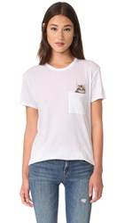 Zoe Karssen Kitten Boyfriend Tee Optical White