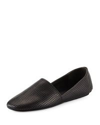 Vince Bogart Perforated Leather Flat Black