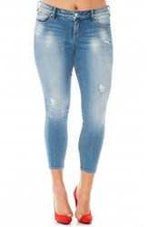 Plus Size Women's Slink Jeans Distressed Stretch Ankle Skinny Jeans Samantha