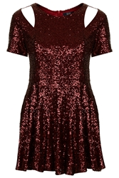 Sequin Dress By Goldie Maroon